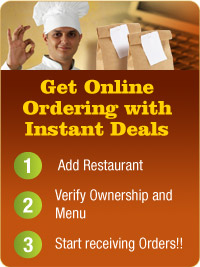 Get Online Ordering with Instant Deals